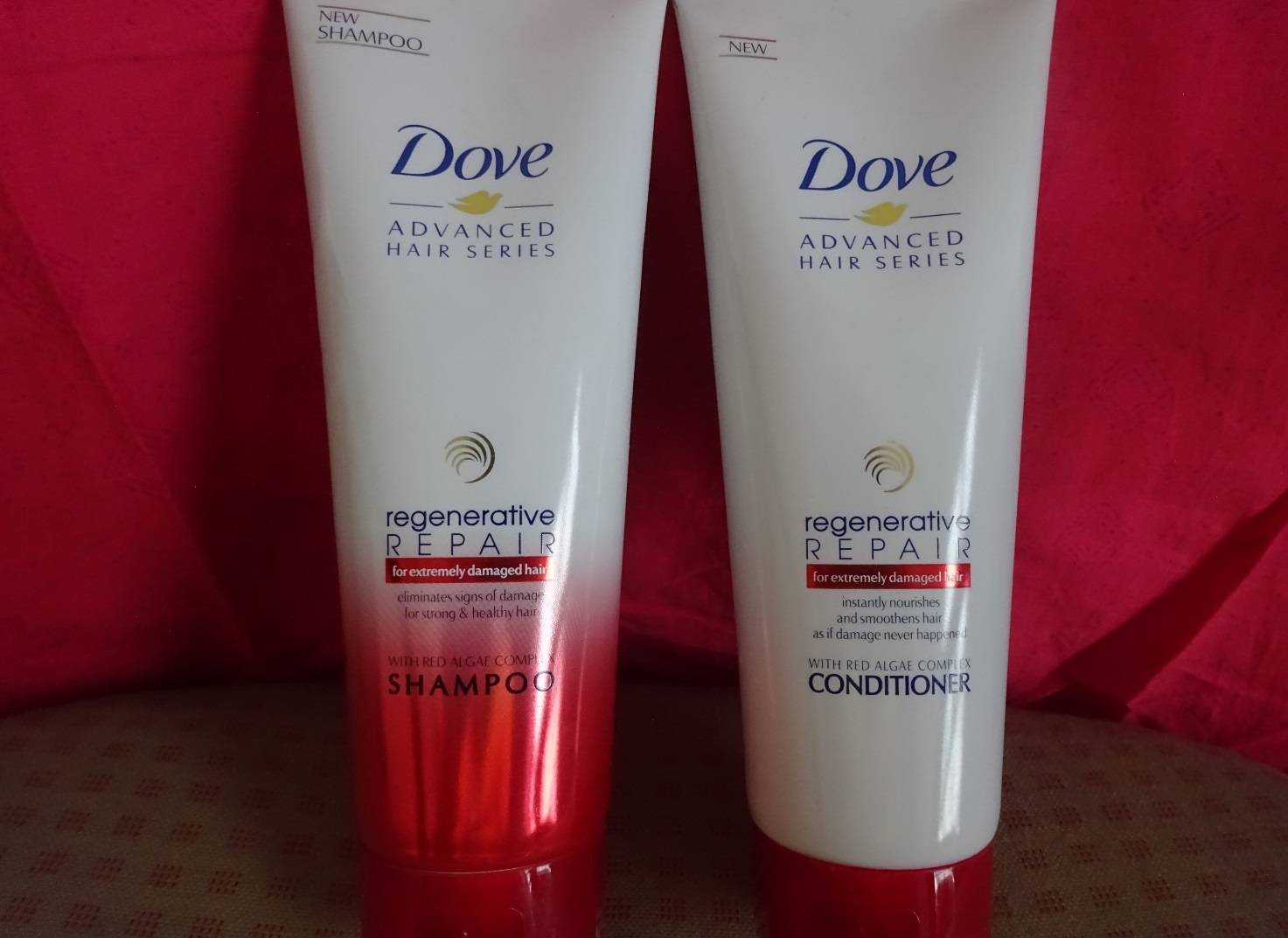 dove regenerative shampoo and conditioner