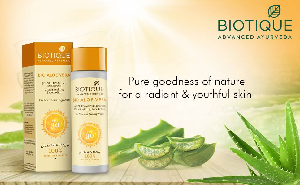 biotique aloe vera ultra soothing face lotion