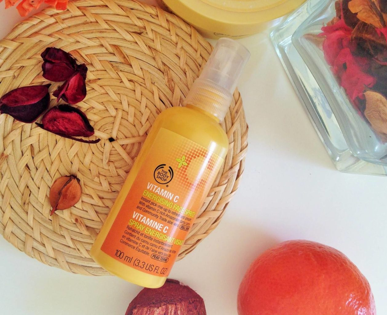 the body shop vitamin c energizing face mist review