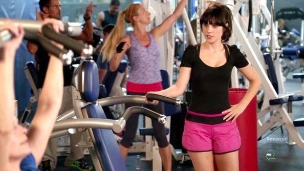 zooey deschanel gym workout