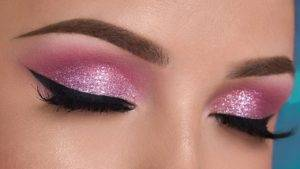 Pink eye-shadow