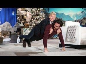 Ellen DeGeneres loves yoga